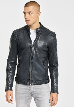 GBGAMBLER SF LVTW - Leather jacket - navy