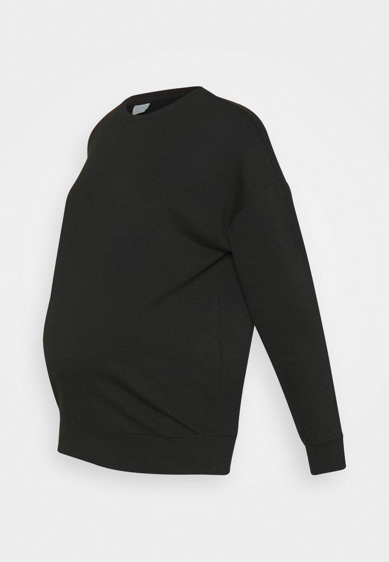 Pieces Maternity - PCMRELAX BLOUSE - Sweatshirt - black