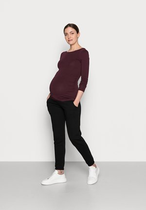 2 PACK - Long sleeved top - dark green/bordeaux