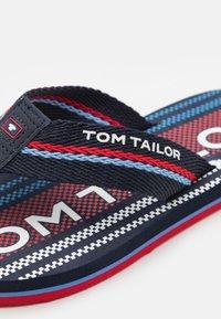 TOM TAILOR - T-bar sandals - navy/red - 5