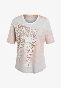 Oui - Print T-shirt - rose orange - 4