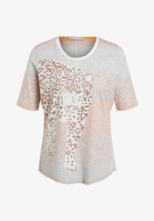 Print T-shirt - rose orange