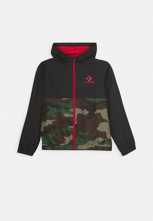 COLORBLOCK WIND JACKET - Light jacket - black