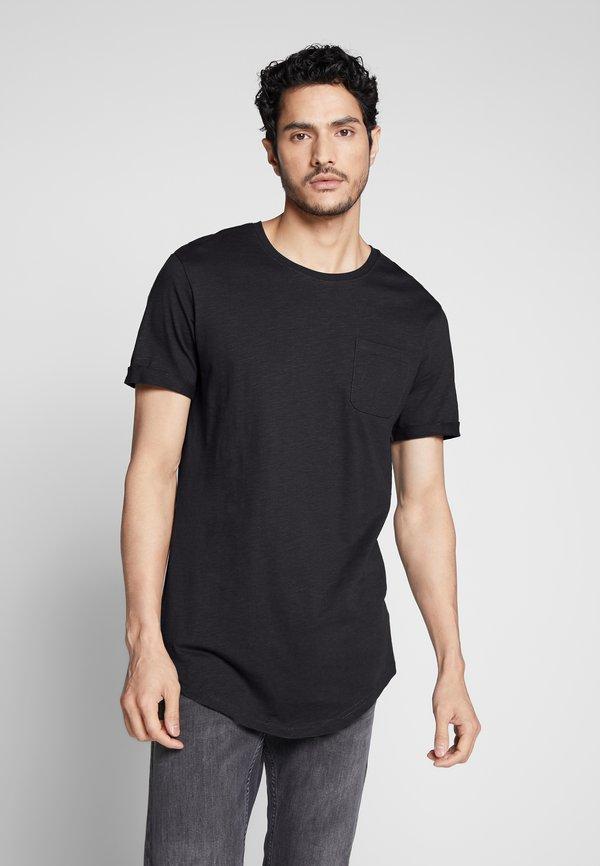 Pier One T-shirt basic - black/czarny Odzież Męska WYCE