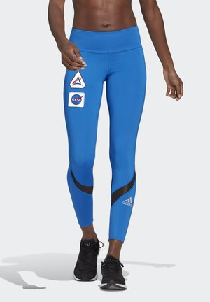 OWN THE RUN SPACE RACE 7/8 RUN LEGGINGS - Medias - football blue
