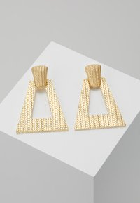 LIARS & LOVERS - TEXURED GEO DROP - Earrings - gold-coloured - 0