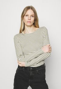 Marc O'Polo - LONG SLEEVE - Long sleeved top - multi/dried sage - 0
