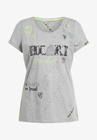 Oui - Print T-shirt - light grey - 6