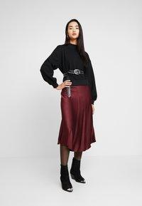 Zign - HIGH COLLAR - Sweater - black - 1