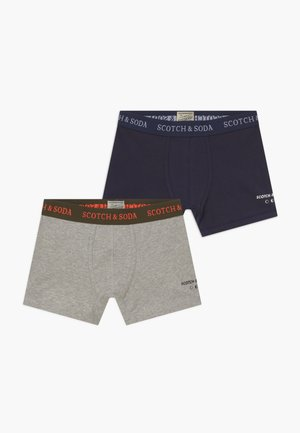 BOXER 2 PACK - Pants - navy/grey