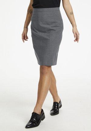 Pencil skirt - grey melange