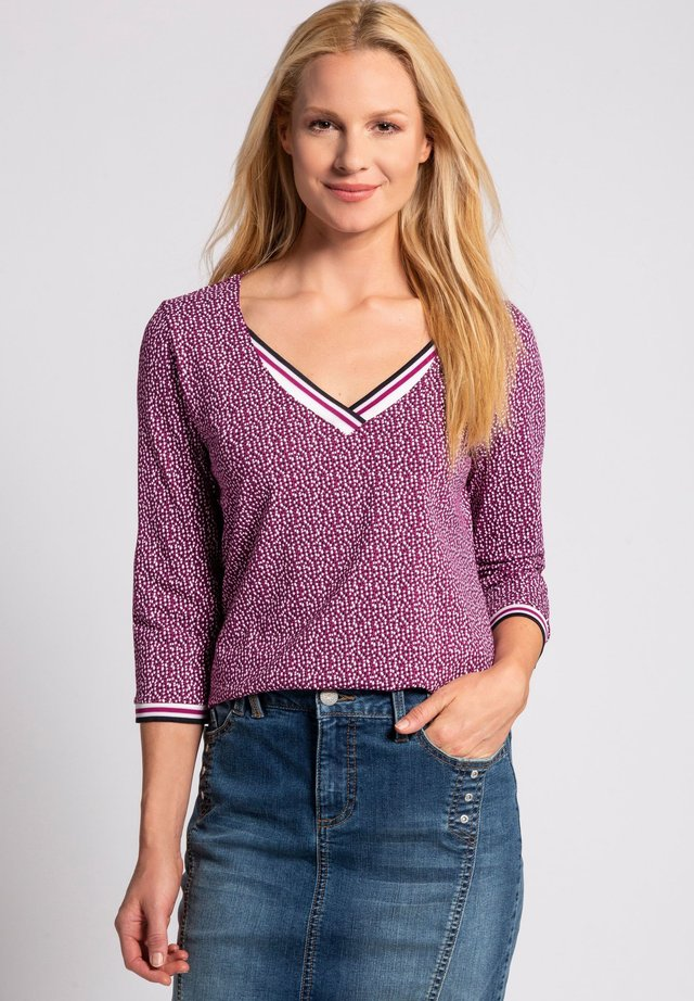Long sleeved top - dunkles fuchsia