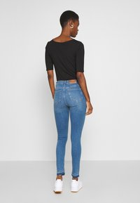 NA-KD Tall - HIGH WAIST OPEN - Jeans Skinny Fit - mid blue - 2