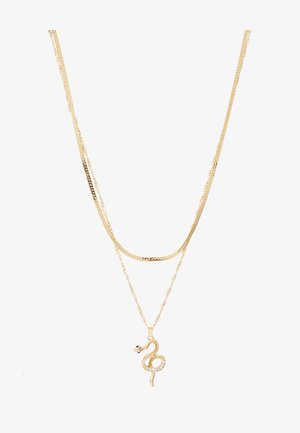 PCSNAKE COMBI NECKLACE - Smykke - gold-oloured