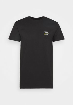 VANS X NATIONAL GEOGRAPHIC GLOBE - Print T-shirt - black