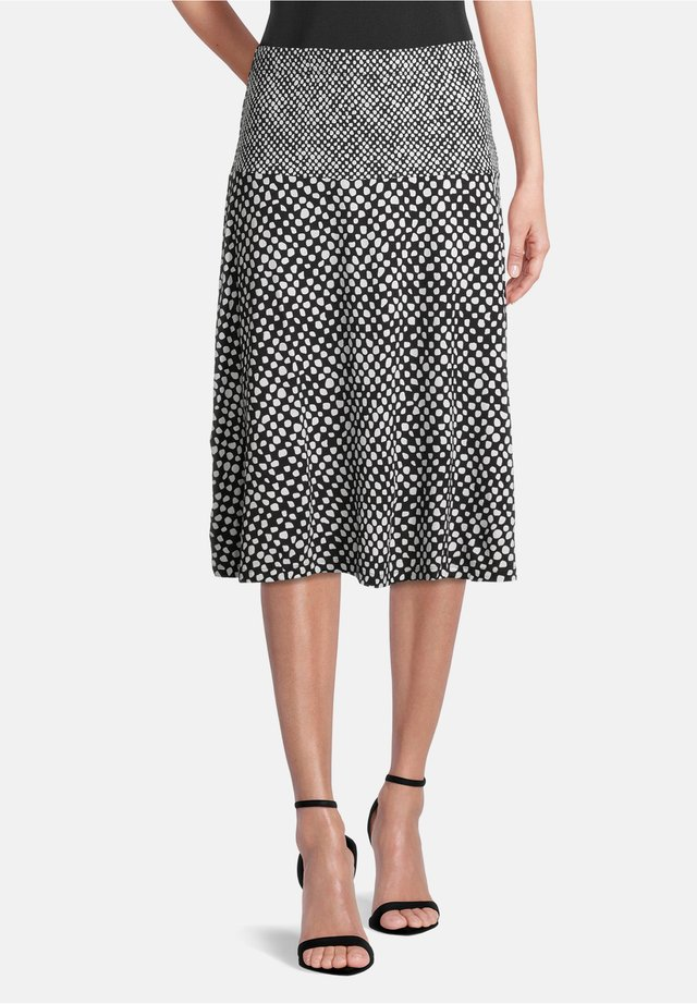 A-line skirt - schwarz/weiß