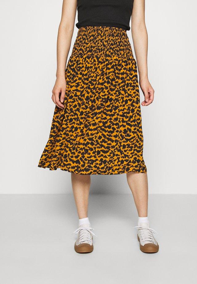 MAXI SKIRT - Áčková sukně - yellow dark