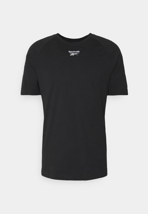 TWIN VECTOR TEE - T-shirt med print - black
