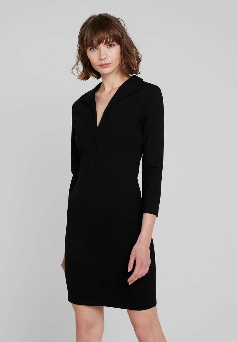 French Connection - RUTH LULA V NECK DRESS - Shift dress - black