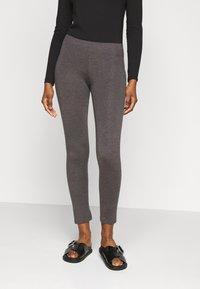 Even&Odd Petite - 2 PACK  - Leggings - black/mottled dark grey - 5