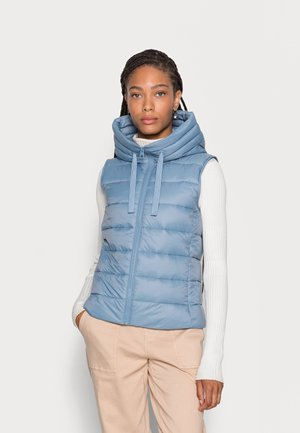RECYCLED VEST FIX HOOD STAND UP COLL - Waistcoat - fall sky