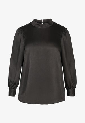 WITH LONG PUFF SLEEVES - Blouse - black