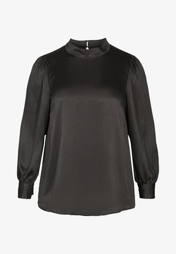 WITH LONG PUFF SLEEVES