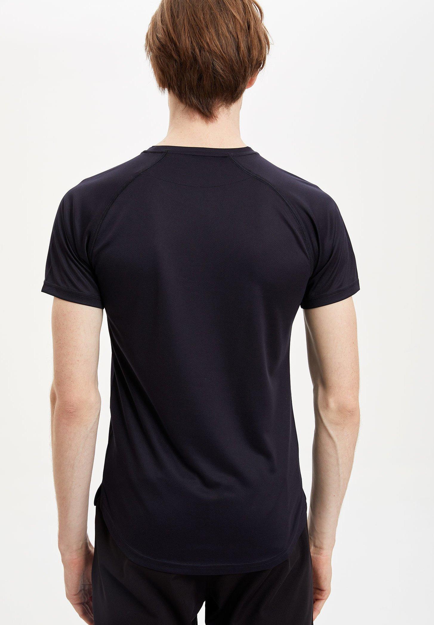 DeFacto Print T-shirt - navy GNy08