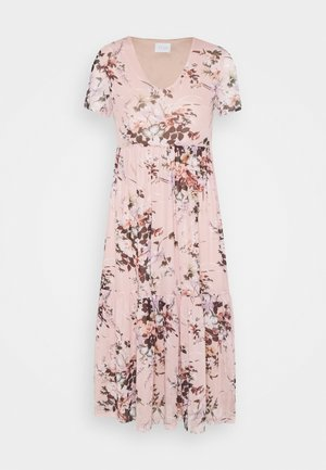 VIDAVIS LONG VNECK DRESS - Day dress - rose smoke