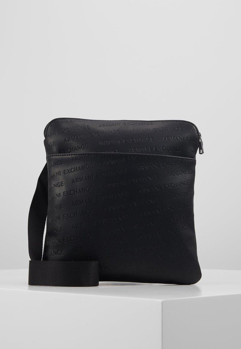 Armani Exchange - SMALL CROSSBODY BAG - Schoudertas - black