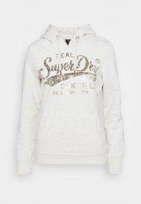 Superdry - SCRIPT SEQUIN HOOD - Sweatshirt - beige - 4