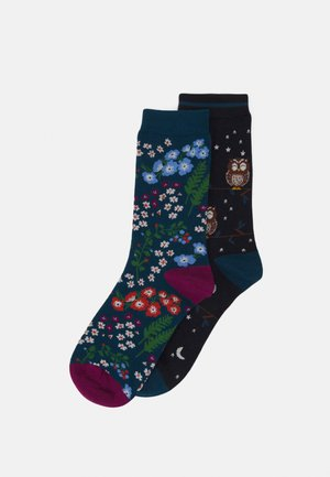 LULU 2 PACK - Socks - midnight blue/teal blue
