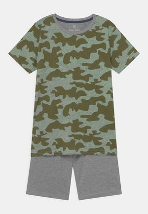 TEEN BOYS SET - Print T-shirt - grey melange