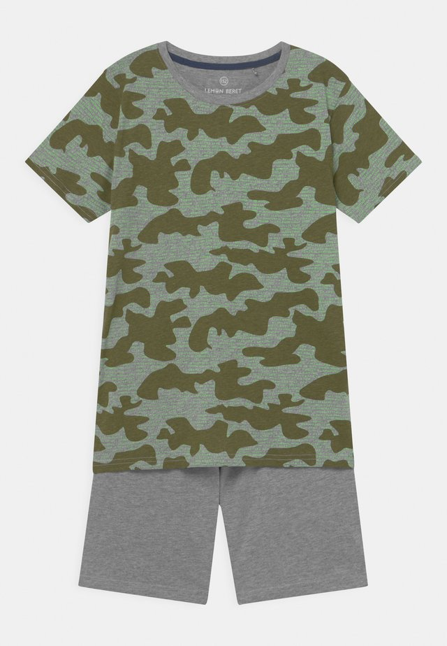 TEEN BOYS SET - T-Shirt print - grey melange