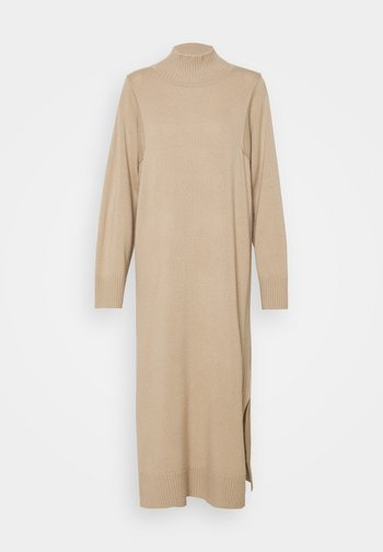 DRESS HIGHNECK - Jumper dress - desert sand