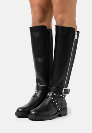 KASSY PEARL DETAIL KNEE HIGH BOOT - Boots - black