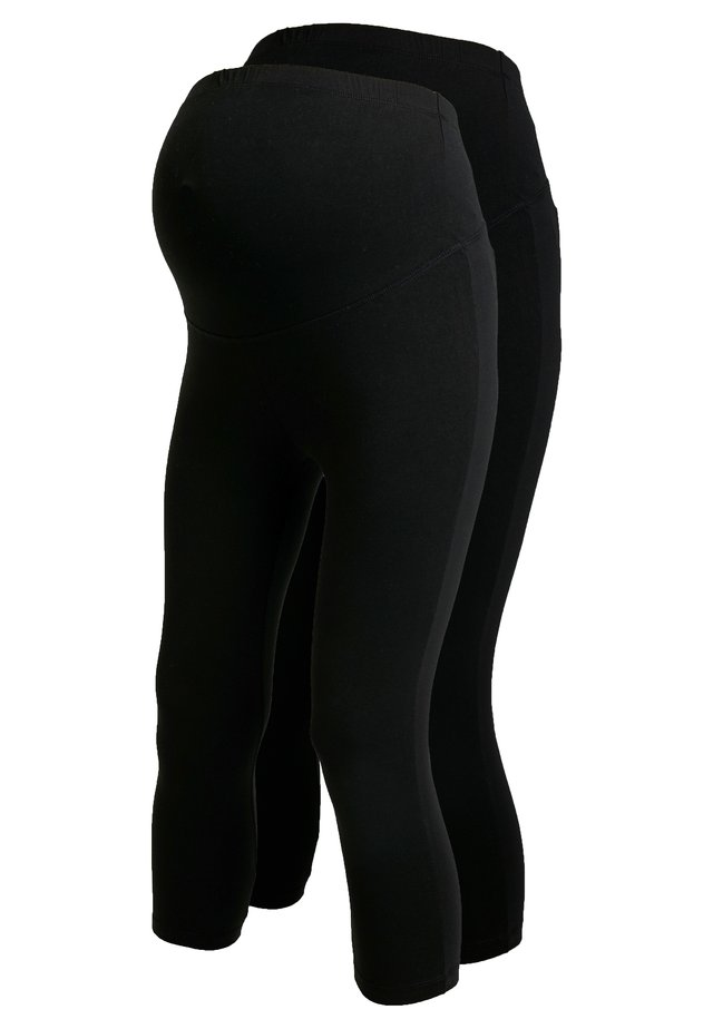 2 PACK - Leggings - black