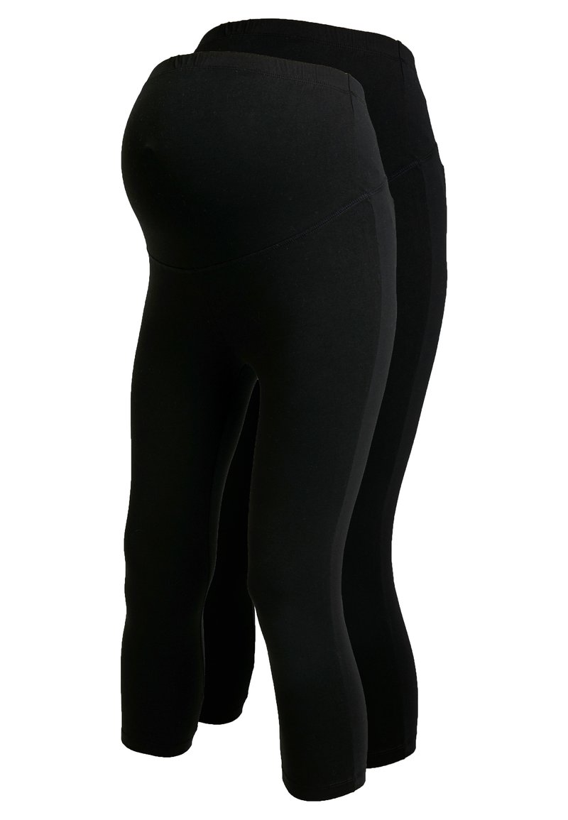 Anna Field MAMA - 2 PACK - Leggings - black