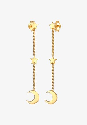 HALF MOON STARS - Earrings - gold