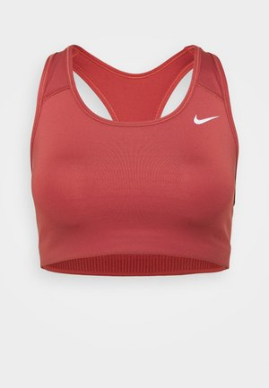 NON PADDED BRA - Medium support sports bra - canyon rust/white
