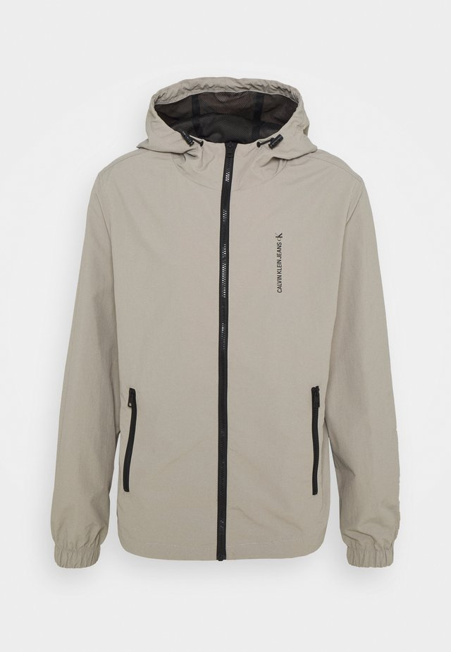 VERTICAL LOGO  - Summer jacket - elephant skin