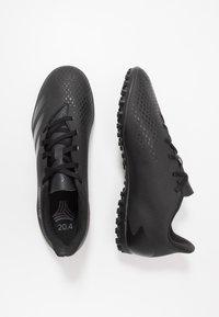 adidas Performance - PREDATOR - Astro turf trainers - core black/dough solid grey - 1