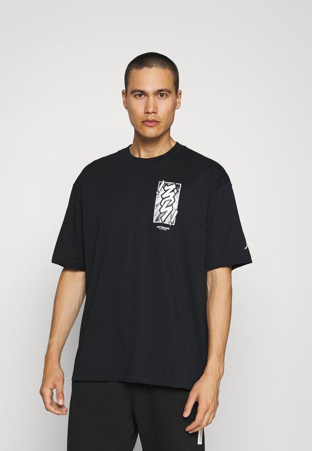 ZION TEE - T-shirt print - black/white
