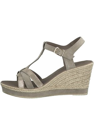 High heeled sandals - taupe comb