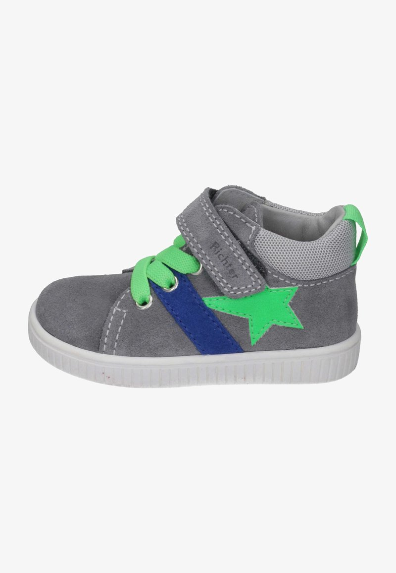 Richter - Touch-strap shoes - stone/flint/new green