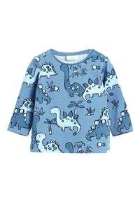 Next - BLUE 3 PACK DINOSAUR T-SHIRTS (0MTHS-3YRS) - Langærmede T-shirts - blue - 3