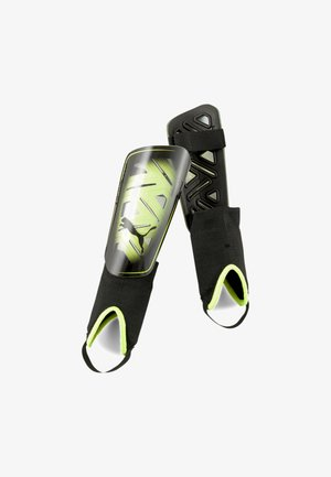 ULTRA FLEX FOOTBALL  - Shin pads - yellow alert- black