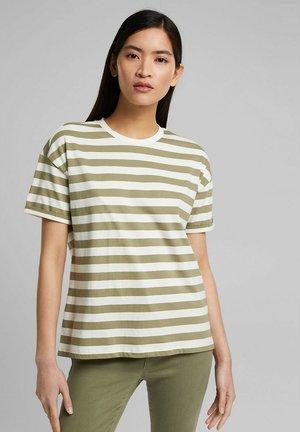 GESTREIFTES - Print T-shirt - light khaki