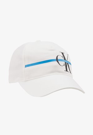 MONOGRAM STRIPE CAP - Caps - white