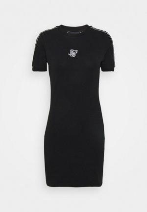 TAPE BODYCON DRESS - Jersey dress - black